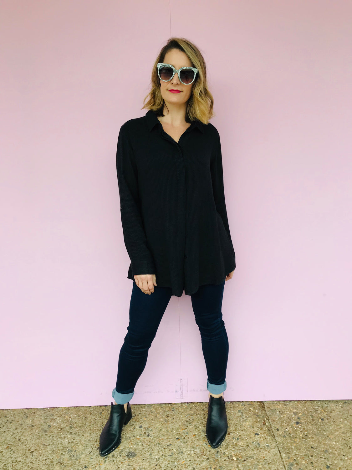 Textured Shirt in Black