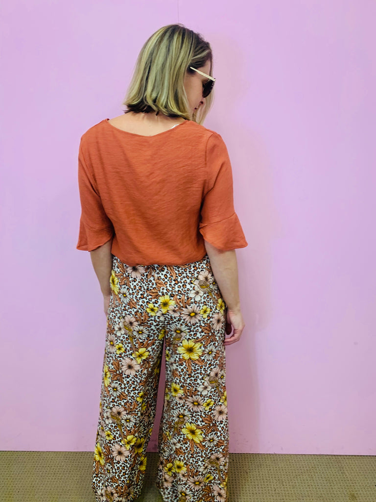 Rust Cotton Blouse