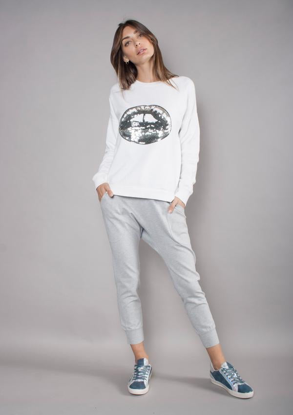 The Others Sweater - White & Silver