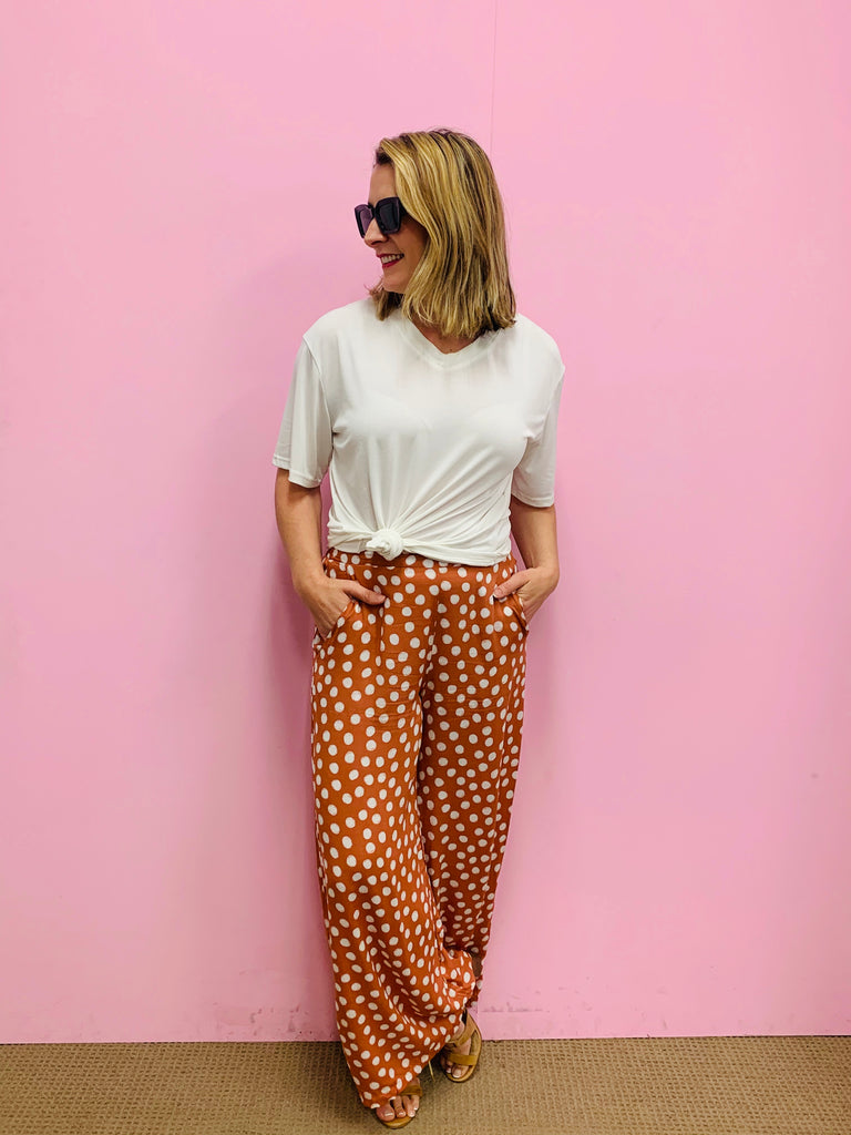 Sienna Spot Wide Leg Pants