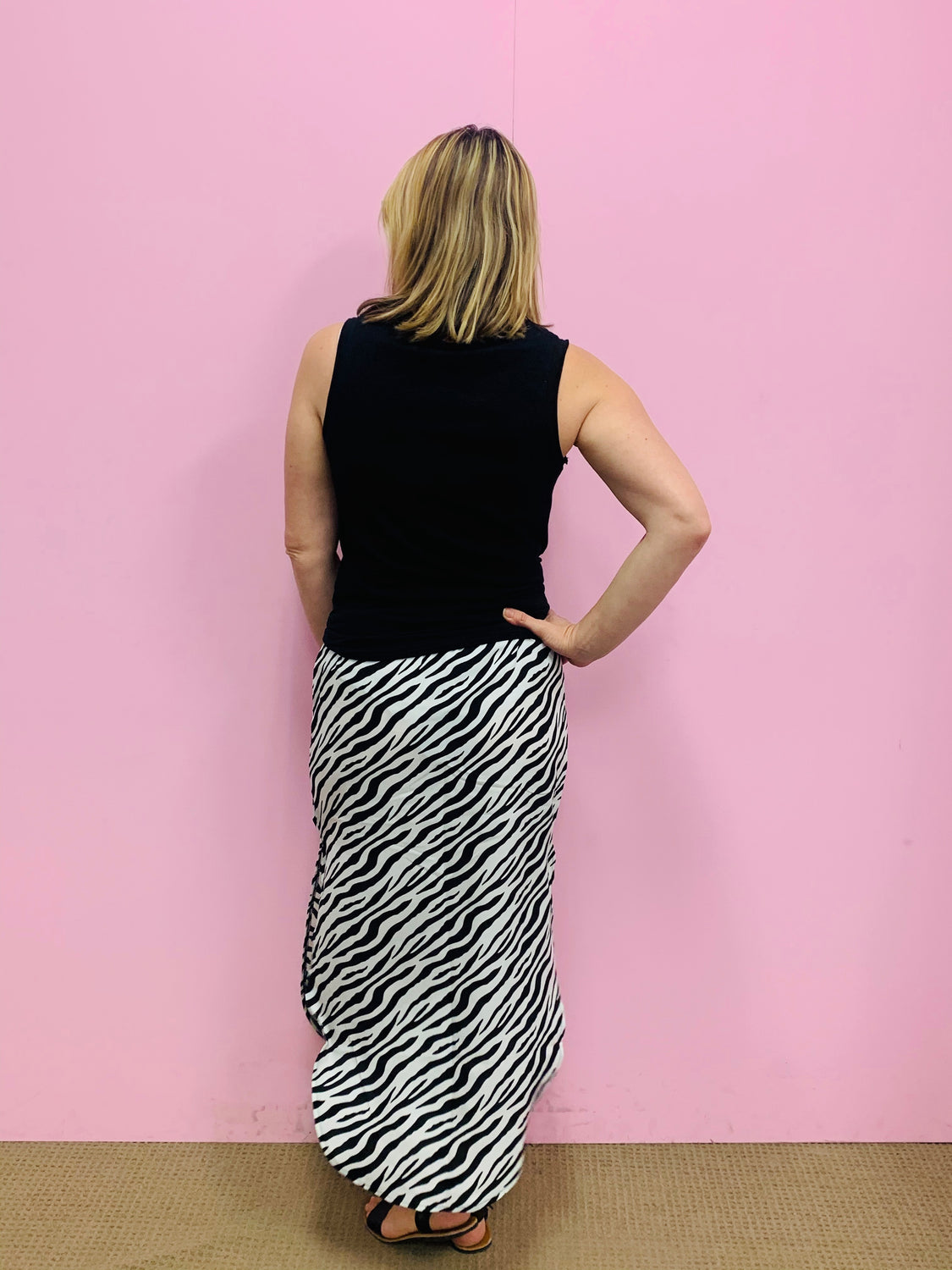 Zara Zebra Skirt-Black/White