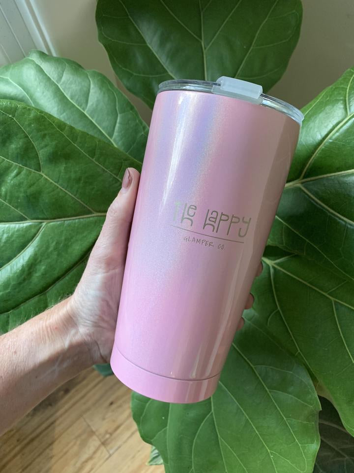 Happy Glamper Travel Mug - Pink