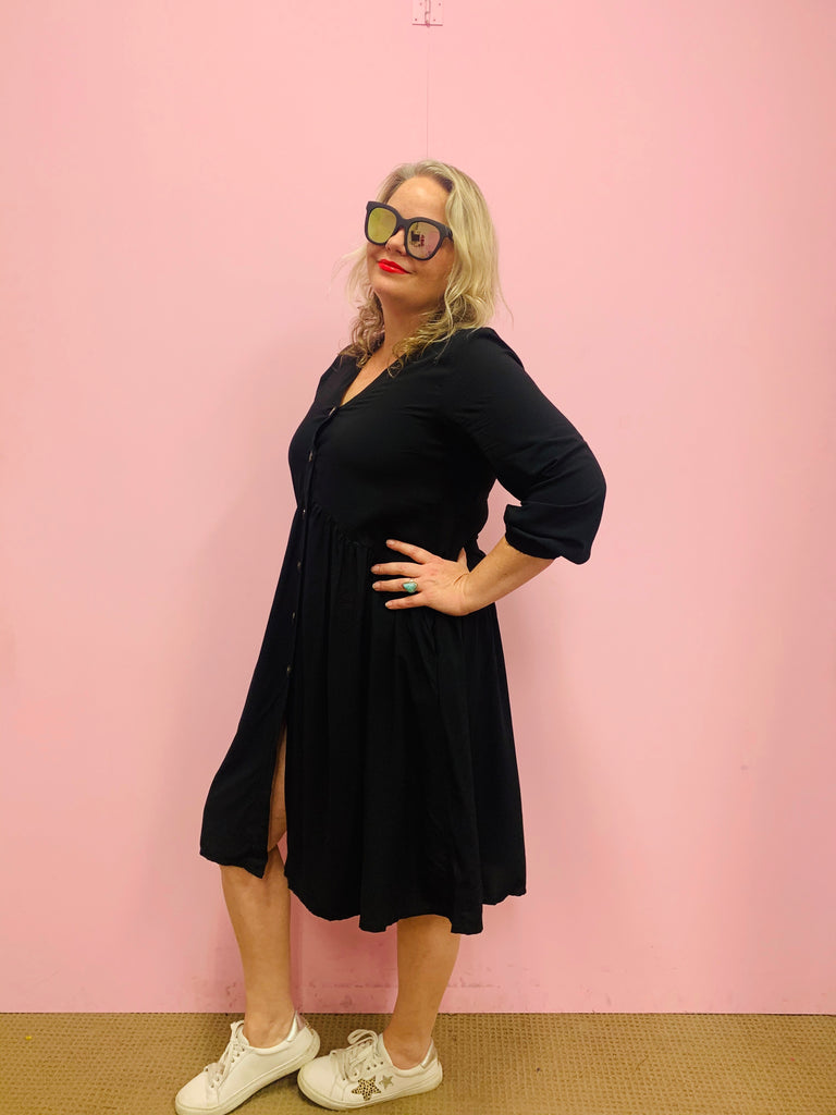 Roxy Shirt Dress - Black
