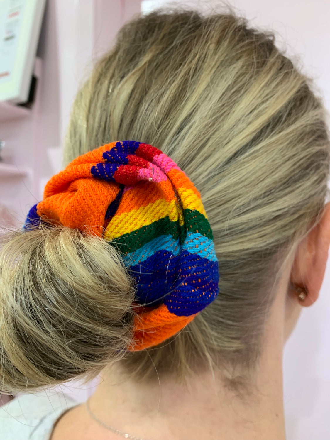 Carnival Rainbow Scrunchie