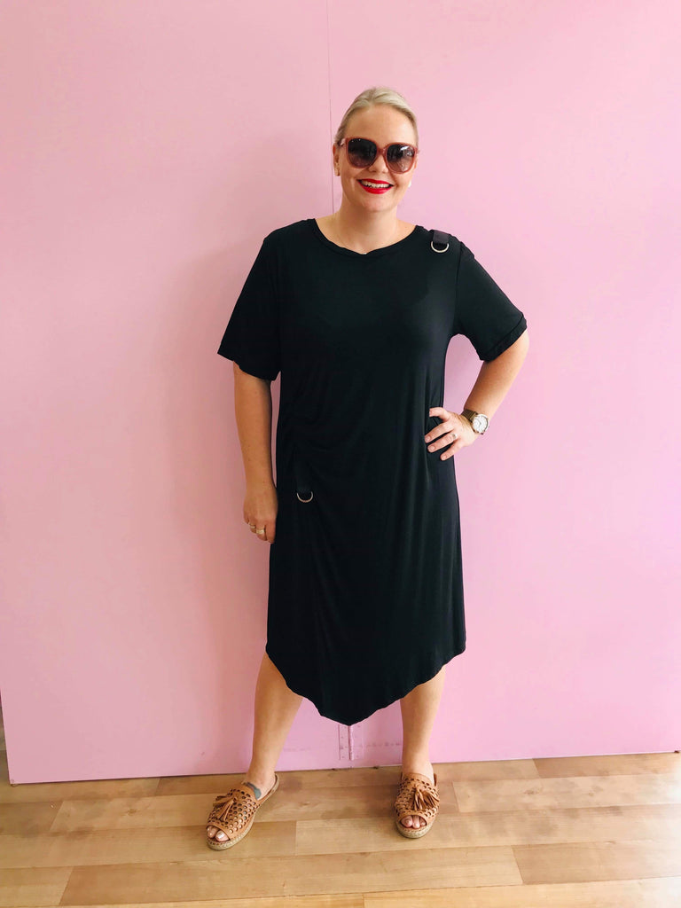 Becky Buckle T-shirt Dress