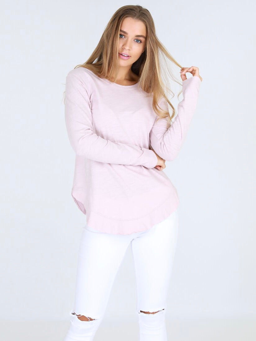 Mosman Long Sleeve Tee - Blush Marle