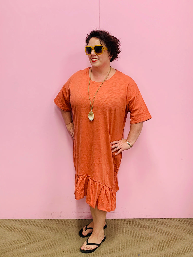The Goldie Dress - Rust