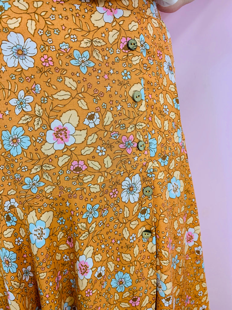 Harper Blossom Skirt - Orange