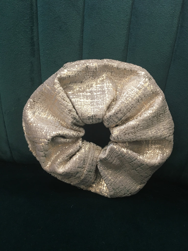 Metallic Gold Velvet Scrunchie