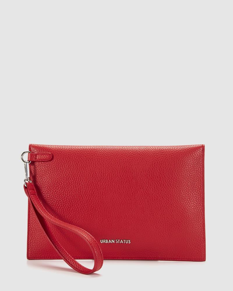 Hendrix Envelope Clutch-Red