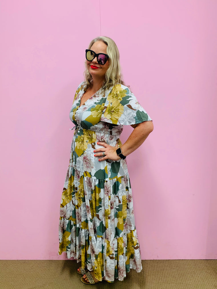 Selma Floral Maxi Dress-Multi