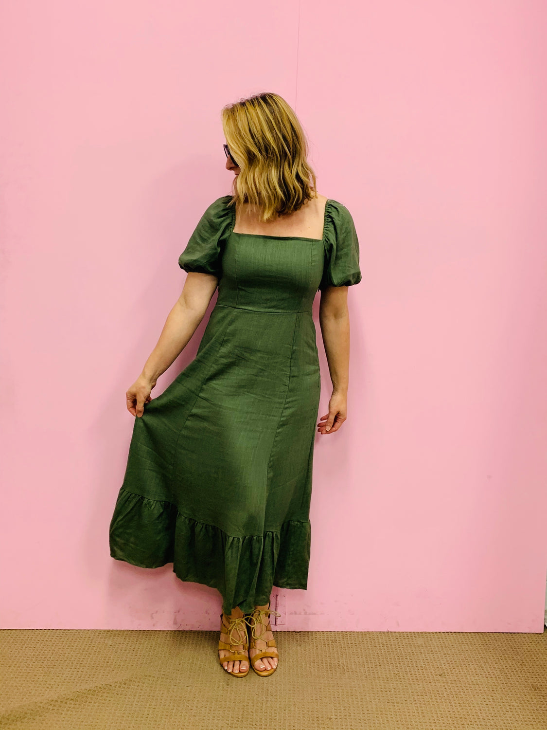 The Bo Peep Dress- Khaki