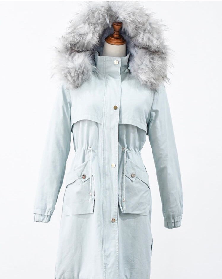 Baby Blue Lined Parka