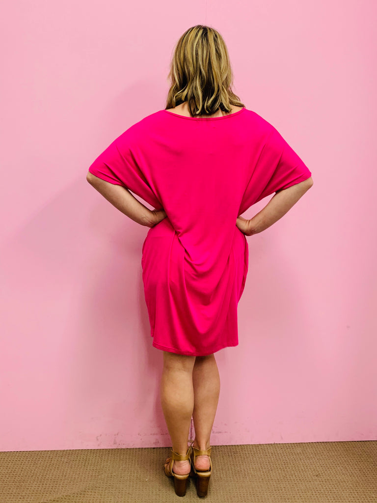 The Nova Dress- Hot Pink