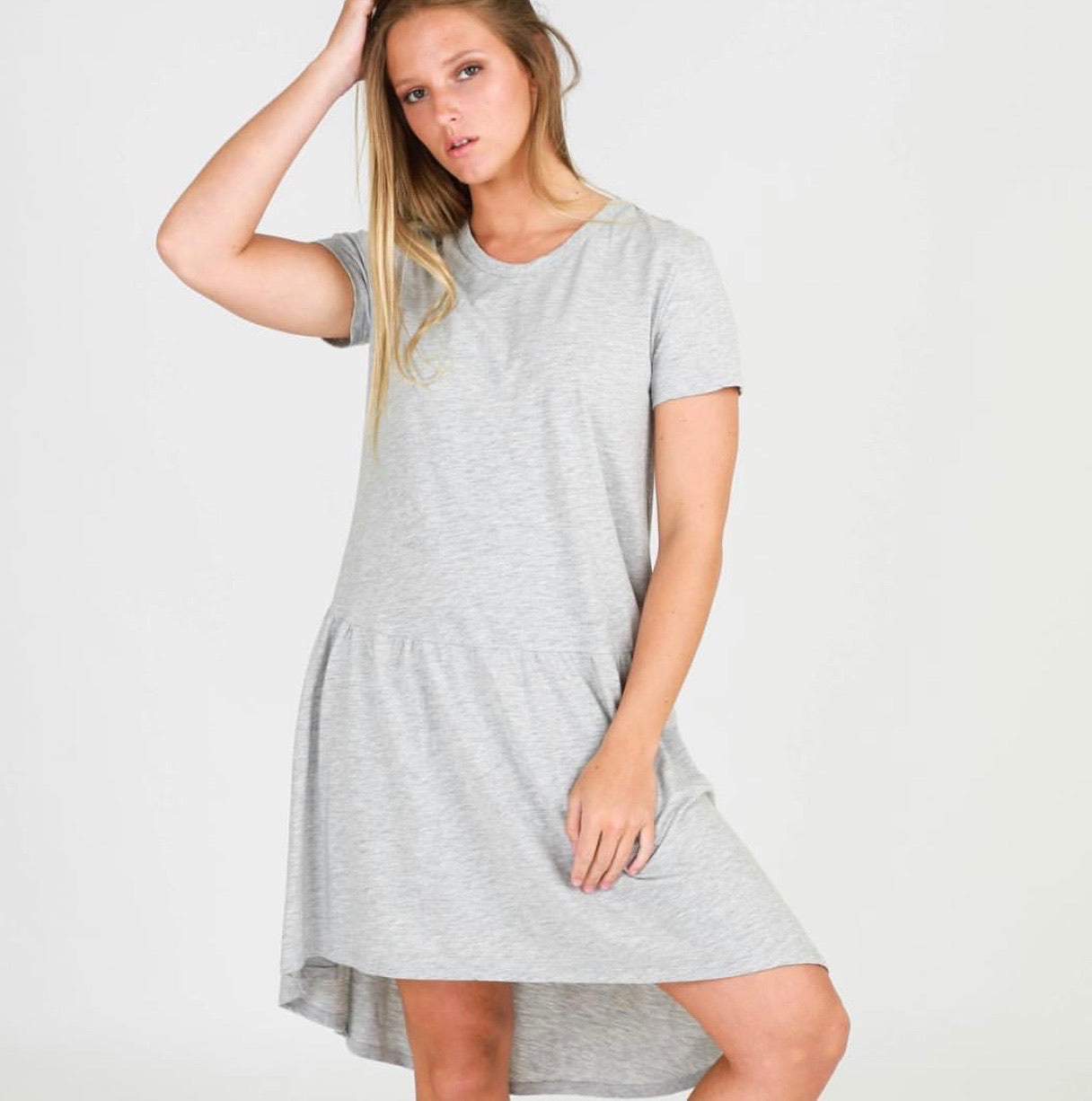 Jasper Dress - Grey Marle
