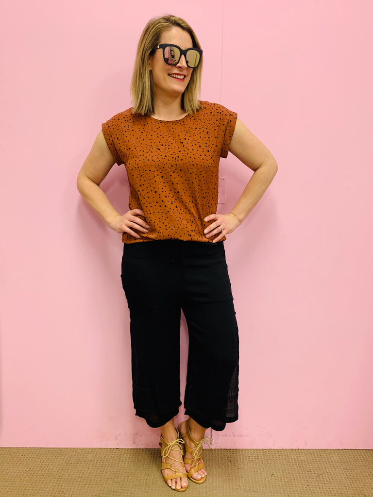 The Liza Rust Top