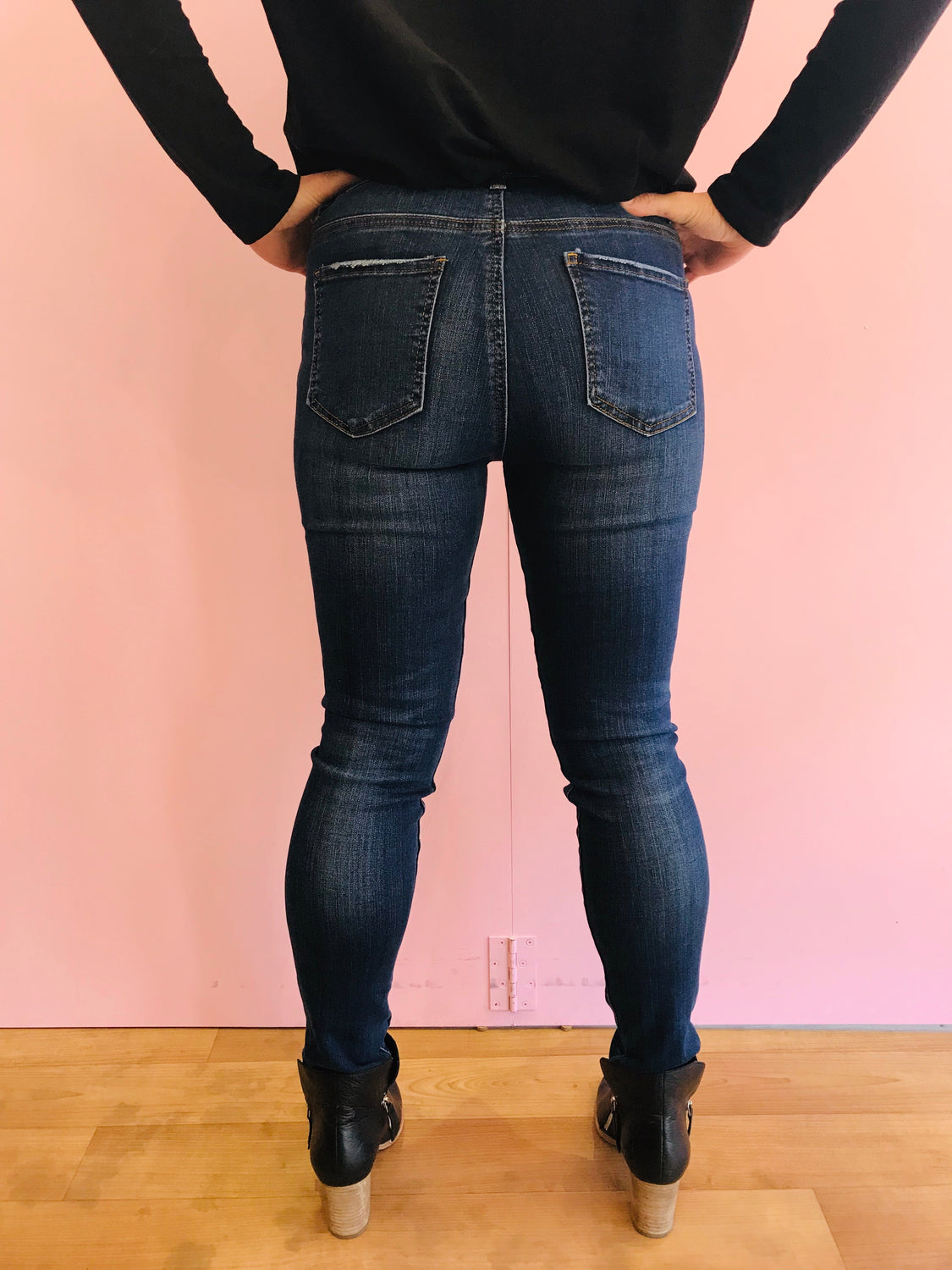 Anna Dark Wash High Rise Jeans