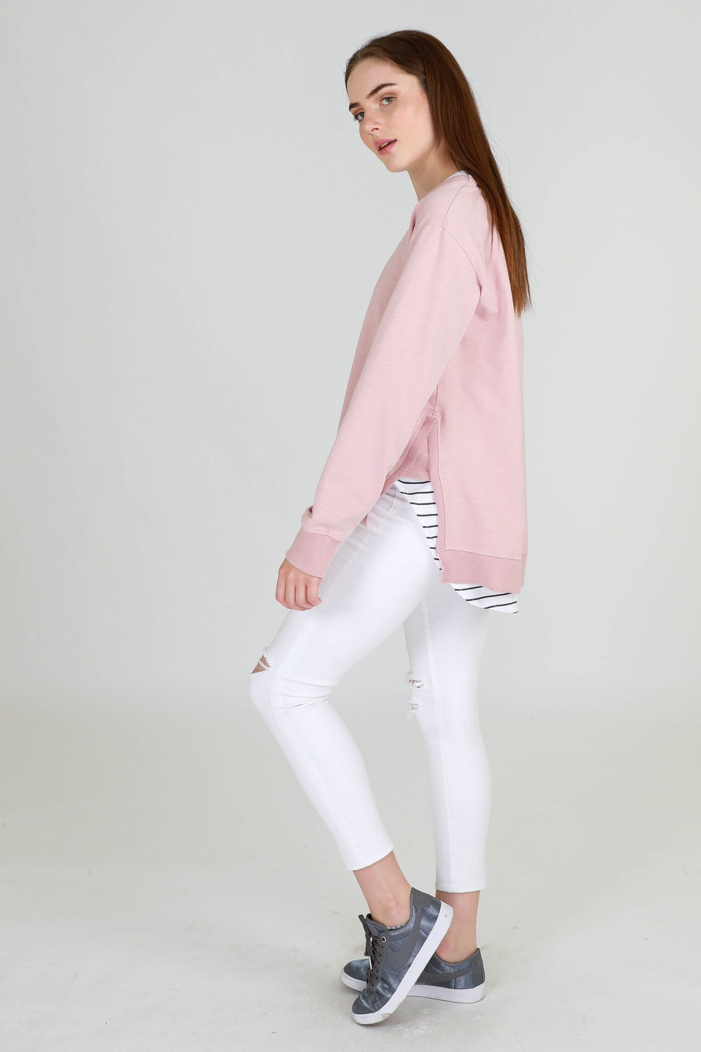 Ulverstone Sweater - Blush Marle
