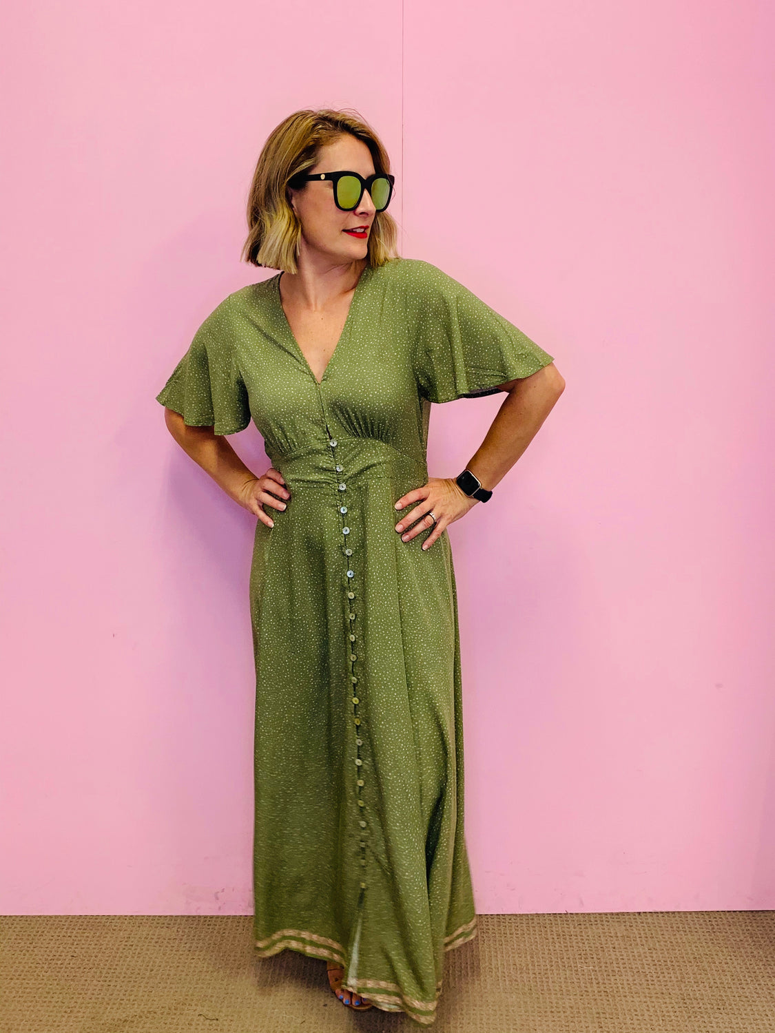 The Tallie Dress in Khaki