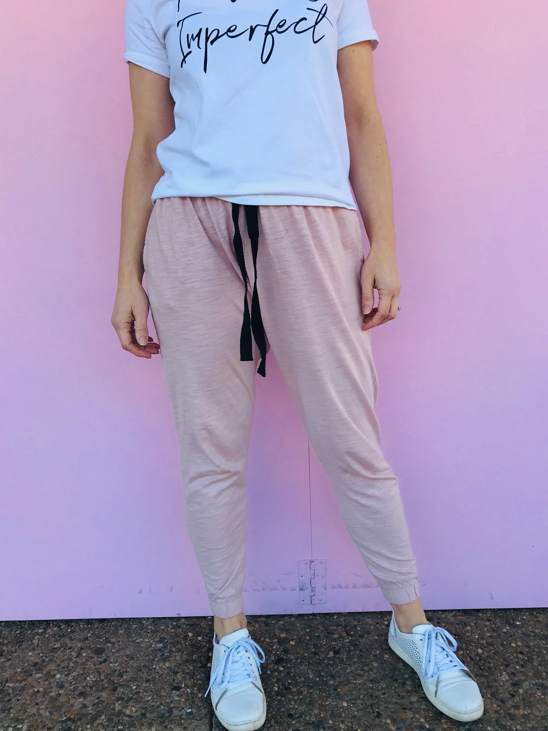 Bondi Pants - Blush Marle