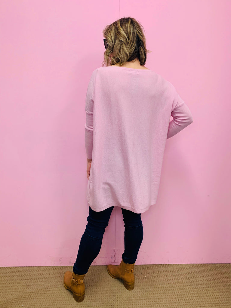 Freez Slouch Knit - Light Pink