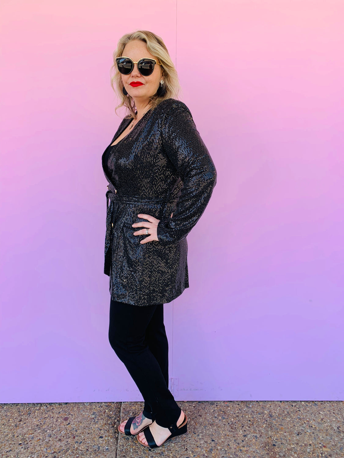 Ebony Sequin Jacket