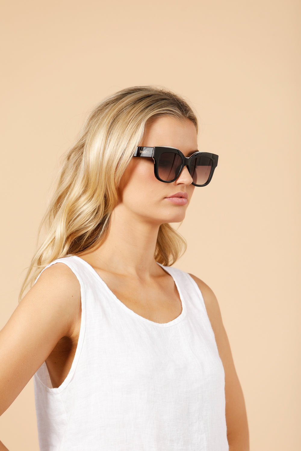 Seville Sunglasses in Black By Shanty