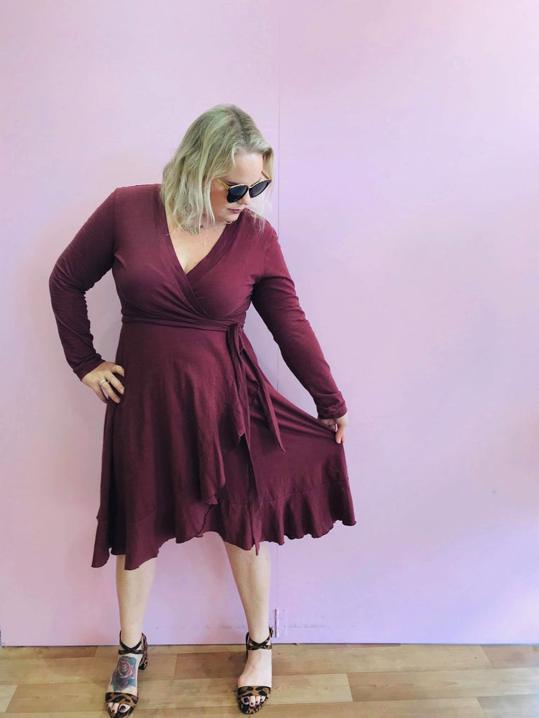 Tizi Dress - Wine