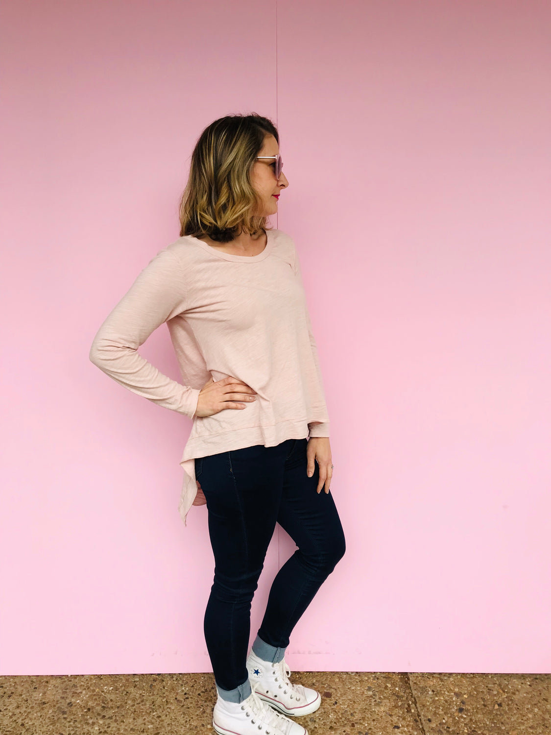 Willow Tee - Blush Marle