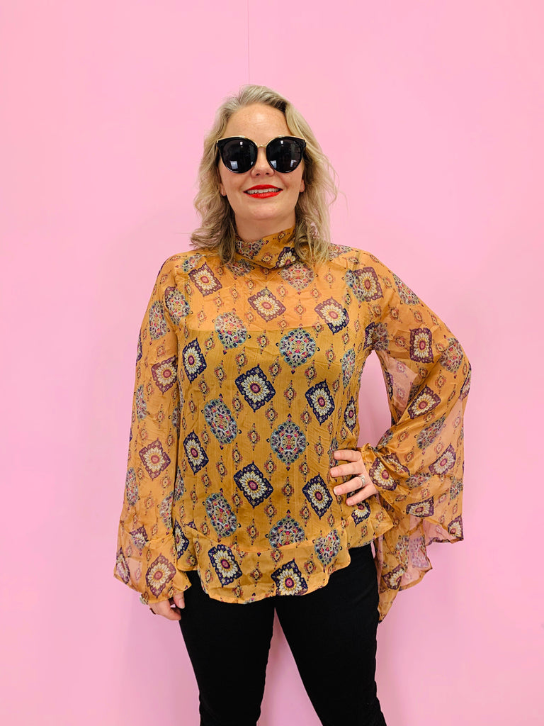 The Paisley Sheer Top