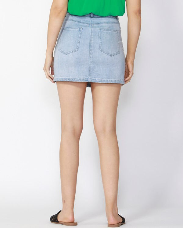 Racing Stripe Denim Mini