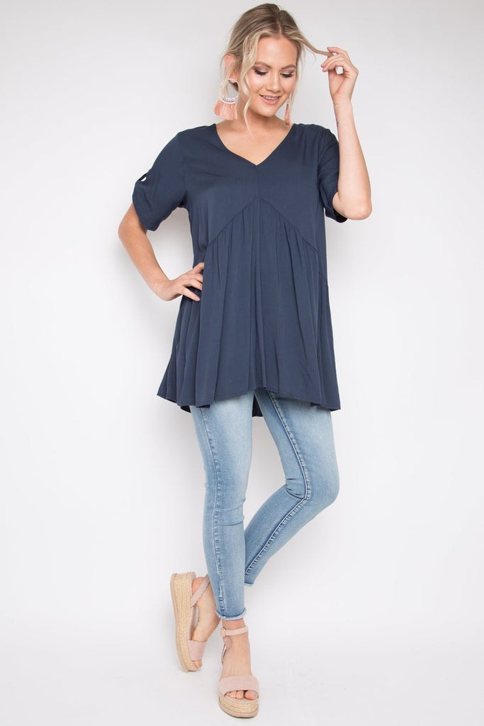 Navy Peak Front Top