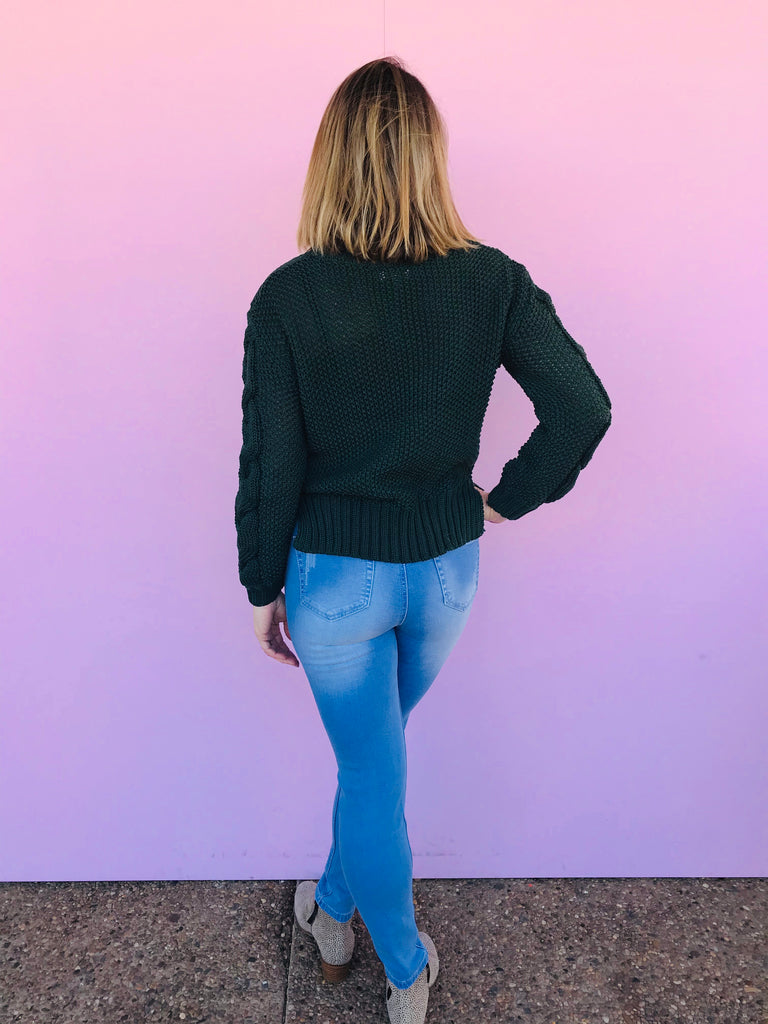 Emerald Cable Knit Jumper