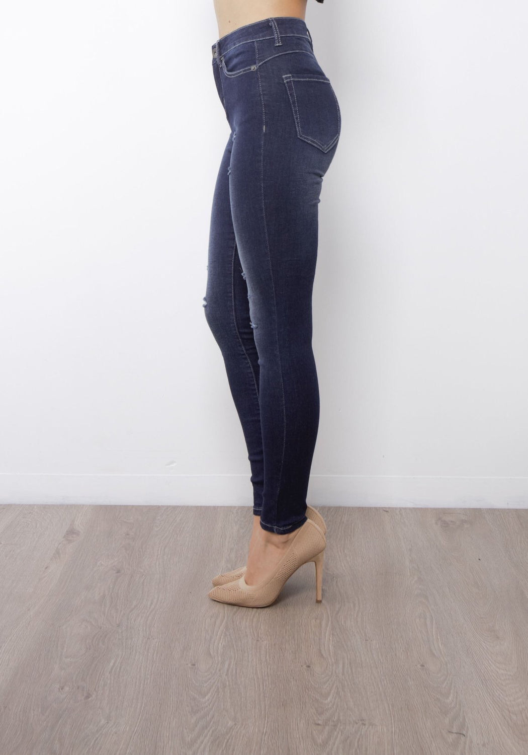 The Kylie Ink Wash High Waisted Jeans