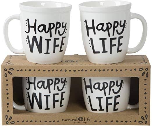 Set of Mugs - Happy Wife, Happy Life