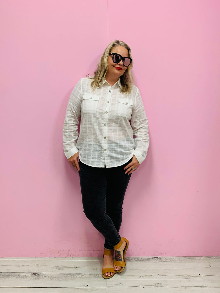 Billy Blouse- White