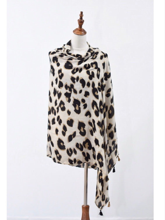 The Kristy Leopard Print Scarf