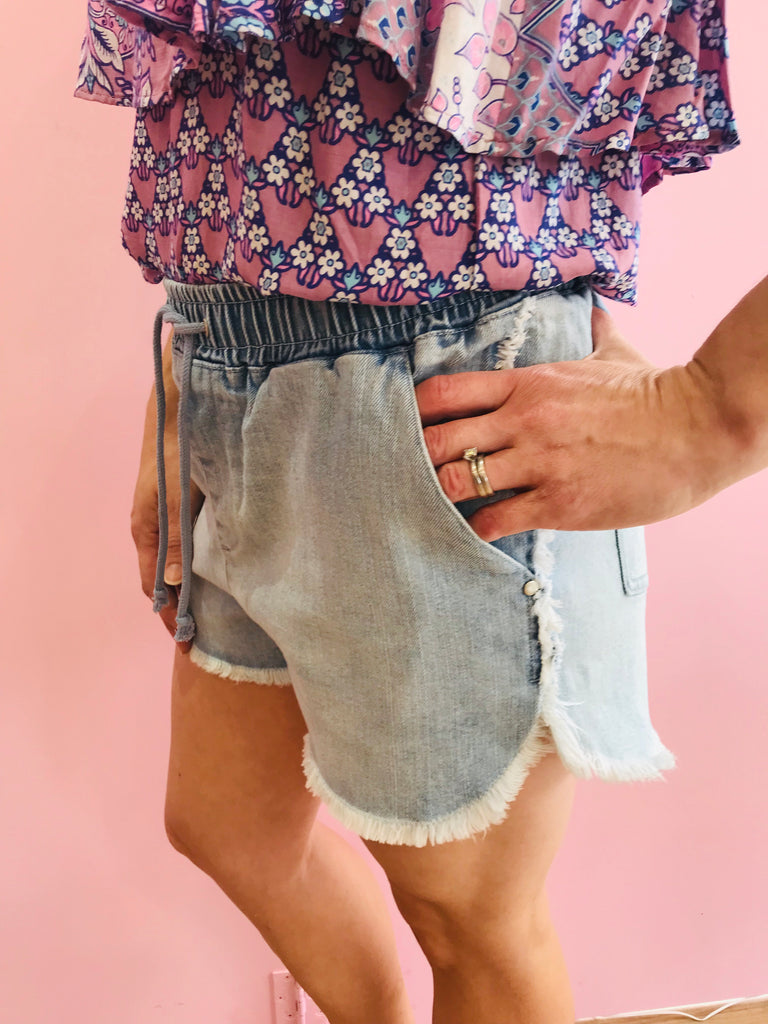Holiday Denim Shorts