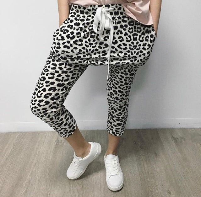 Animal Print Droppy Pants