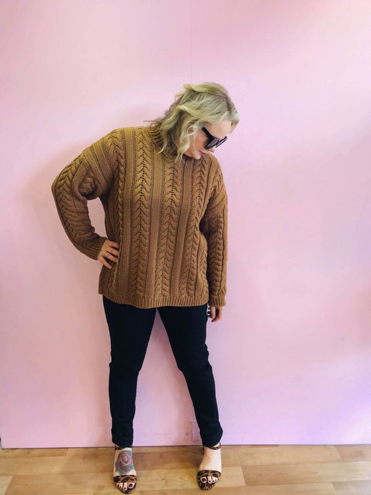 Tina Knit Jumper - Chocolate