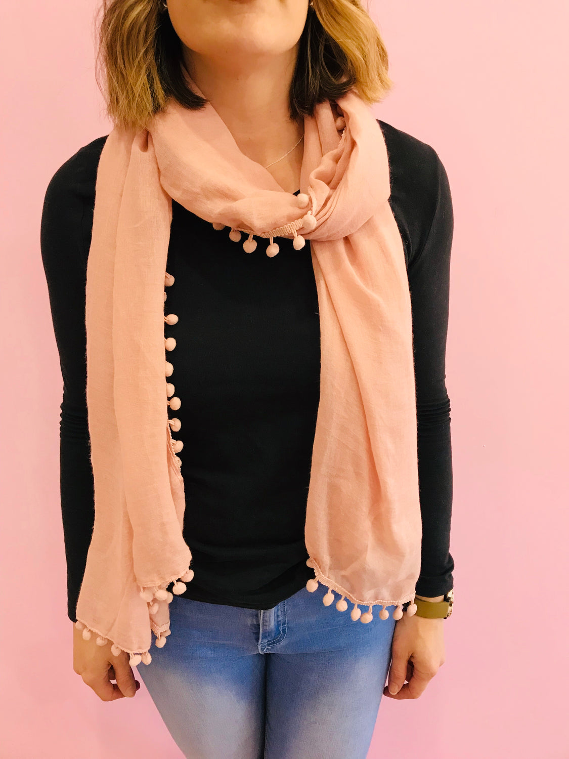 Dusty Pink  Print Scarf
