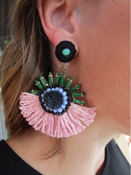 Spike Tassel Dangle Earrings