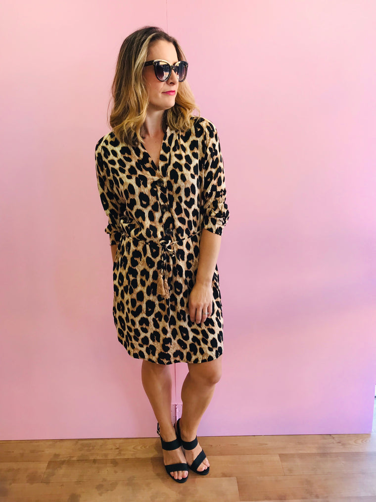 The Lexi Mocha Leopard Dress