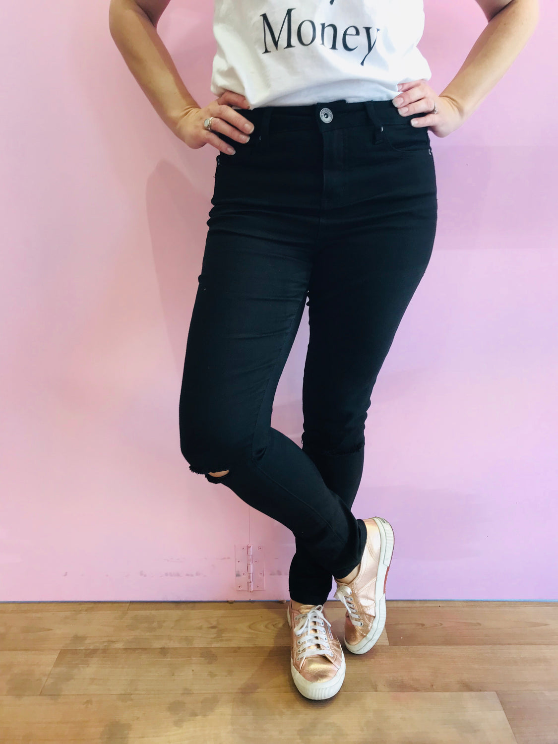 Megan High Waisted Skinny Jeans