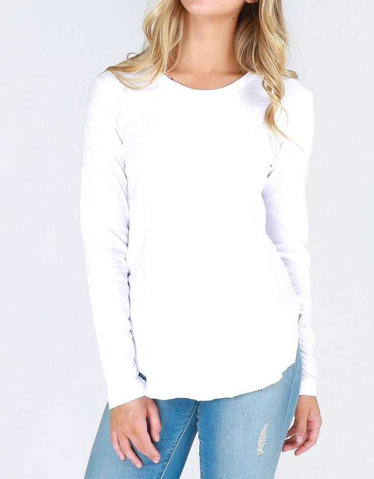 Mosman Long Sleeve Tee - White