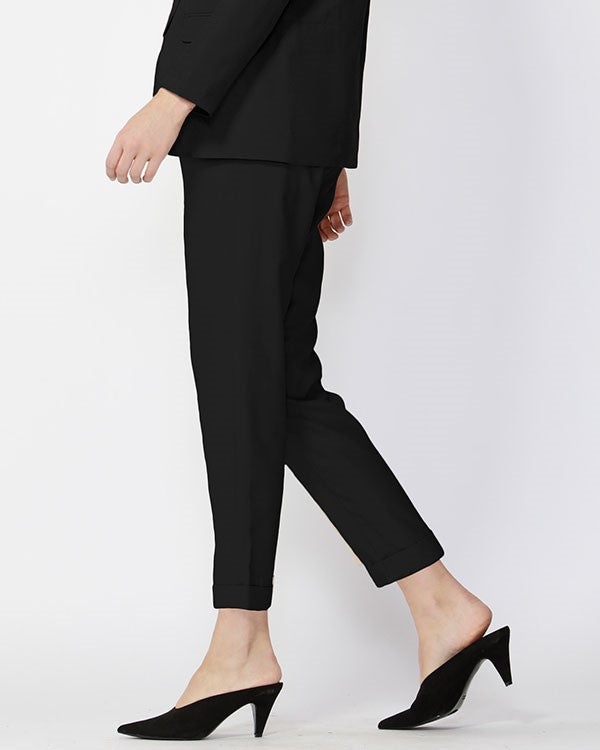 Noon to Night Tapered pants in Black Antique