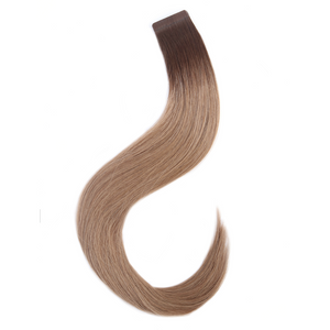 "16"" - 20"" Human Hair Tape Extensions - Rooted Caramel"