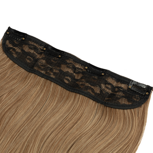 "16-20"" Back Stage 1 Piece Synthetic Clip In Hair Extensions – Misty Walnut"