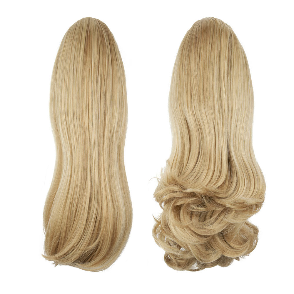 "Pony Piece Clip In Hair Piece 16"" - 20"" Curly and Straight - Calabasas"