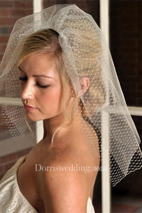 New Double-layer Short Bridal Veil For Travel Photography Styling Headpiece